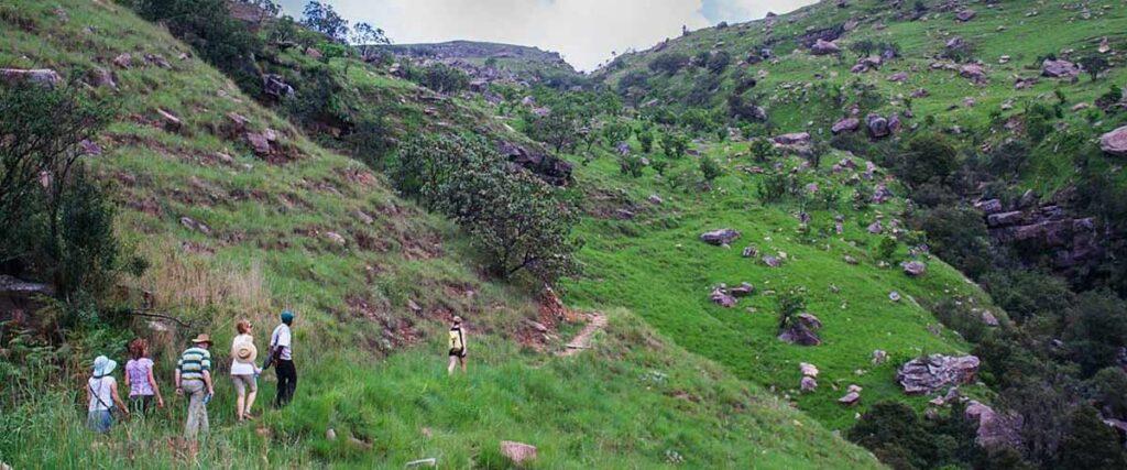 Kamberg nature reserve - hike to waterfall shelter