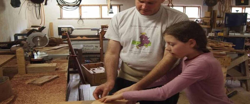 Drakensberg activities woodworking lessons with children