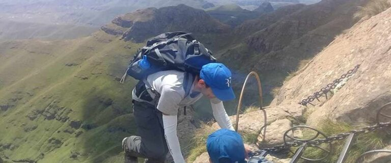 Chain ladders at Sentinel Peak